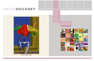 David Hockney's Web site and iPhone art